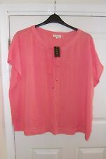 Ladies Large/XL top (56inch bust)  (NEW with tags) orange with bead detail