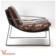 Vintage Relaxsessel Lounge Ledersessel Retro Echtleder Sessel Design Stuhl 457