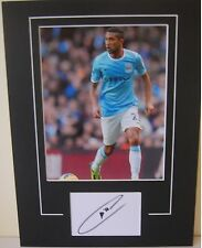 MANCHESTER CITY HAND SIGNED GAEL CLICHY 16X12 MOUNTED PHOTO 1.