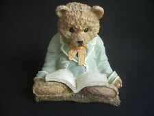 BEAR READING A BOOK ~CHARACTERFUL ORNAMENT