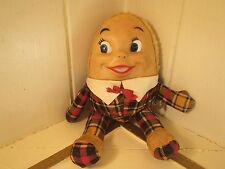 Vintage Knickerbocker Humpty Dumpty Rubber Face Plush Doll