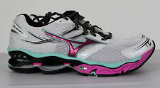 Mizuno Wave Creation 14 Running Shoes Womens 11 White Pink 8KN 301205 New