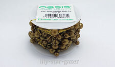 Oasis Gold 6mm & 8mm Pearls on 8m Gold Wire - Beads Wedding Floristry Bridal