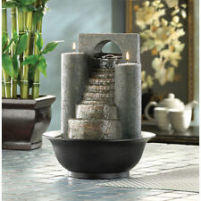 ETERNITY STEP WATER FOUNTAIN & TEALIGHT CANDLE HOLDER CENTERPIECES DECOR-12302
