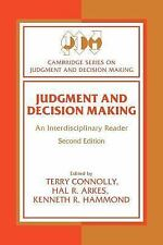 Cambridge Series on Judgment and Decision Making: Judgment and Decision...