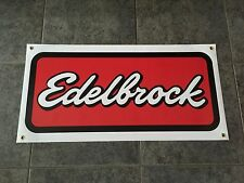 Edelbrock banner sign shop garage racing muscle car classic hot rod performance