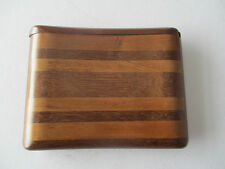 TREEN CIGARETTE CASE WITH SLIDE TOP TO OPEN