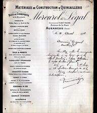 """AUZANCES (23) MATERIAUX de CONSTRUCTION """"Gilbert POUCHOL / MERCUROL & LEGAL"""""""