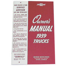 1939 Chevrolet Pickup Truck Owners Manual