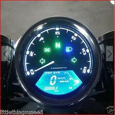 Motorcycle,Digital,Speedo,KPH,&,MPH,Odometer,Streetfighter,Chop,Trike,Project,