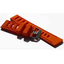 22MM ORANGE RUBBER DIVER WATCH STRAP BAND SILICONE IS OMEGA ISOFRANE STYLE
