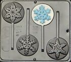 Snowflake Lollipop Candy Mold FROZEN Movie Favor Chocolate Mold Christmas  2058