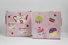 Pack of 4 Cupcake & Teapot Sticker Sets Cup Cake Craft Decoration Labels Party