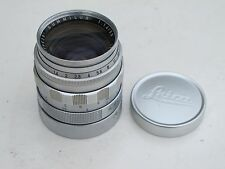 "Leica M 50mm f:1.4 Summilux silver chrome finish with caps, NICE ""LQQK"""