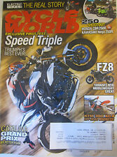 Cycle World Magazine April 2011 250 Shootout Honda CBR250R vs Kawasaki Ninja 250