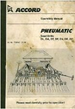 ACCORD pneumatici SEMI Drill DL, da, DT, DF, DV, DE, DC operatori manuale