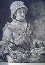 A Labor of Love By Charles Edward Perugini Harper's Weekly 1875
