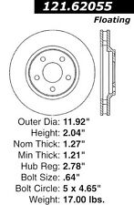 Centric Parts 121.62055 Front Disc Brake Rotor