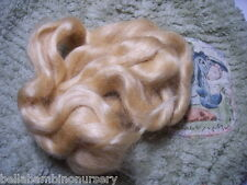 ~WaVy PaLe BLoNdE MoHaiR FoR ReBoRn DoLL or ScULpTiNg 1/2 OuNcE~ REBORN SUPPLIES
