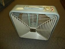 "Vintage Windsor Deluxe 3 Speed 22"" Box Fan - Thermostat Control - In and Out"