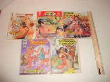 MEXICAN COMICS LOT OF 5 ARTES MARCIALES,MIL NOCHES,INTRIGA POLICIACA