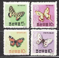 KOREA 1962 mint(*) SC#390/93 set,  Butterflies.