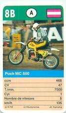 PUCH MC 500  AUSTRIA OSTERREICH SPORT MOTO 70s 80s PLAYING CARD CARTE À JOUER