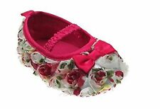 New Christening Rosebud Pram Shoes Infant Baby Girl By Soft Touch 3 - 6 months