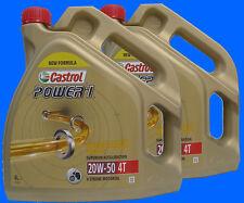 * 2X4 Liter Castrol POWER1 4T 20W-50 MOTORRAD ÖL 20W50 JASO MA-2 API SJ 4 Takt