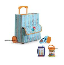 """American Girl BT BITTY TWIN STARTER SUITCASE SET NO CLOTHES for 15"""" Dolls NEW*"""
