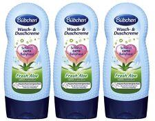 3x 230ml Bübchen Washing & Shower cream Fresh Aloe with 1/3 Babylotion