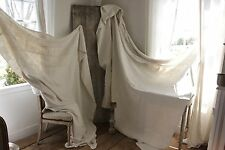 Sheets vintage French linen  2 MATCHING upholstery pillow fabric etc 18th c