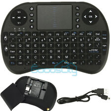 BLACK Mini 2.4G Wireless Keyboard Mouse Touchpad for PC Android TV Box PS3 HTPC