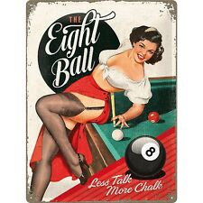The Eight Ball 50er retro Rockabilly Blechschild im Vintage Style