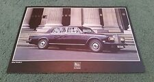 1978 1979 ROLLS ROYCE SILVER WRAITH II 2 UK SINGLE SHEET LEAFLET BROCHURE