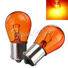 2x 1156 BA15S P21W 21W Car Motorcycle Scooter Indicator Light Bulb Amber 12V