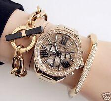 Original Michael Kors Uhr Damenuhr MK6095 Wren Chrono Farbe:Gold/ Kristall NEU!