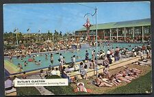 Posted 1967. View of Butlin's Clacton Outdoor & Indoor Swimming Pool