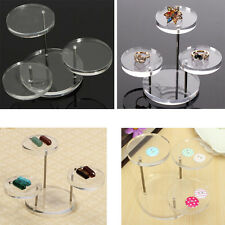 3 Layer Clear Runde Acryl Schmuck Display Stand Ohrring Halskette Ring Display