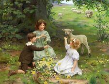 A Springtime Meadow by ARTHUR JOHN ELSLEY Giclee Fine Art Canvas Print