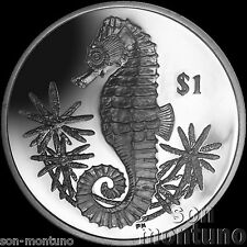 2014 SEAHORSE - CuNi Copper Nickel UNC One Dollar Coin British Virgin Islands $1