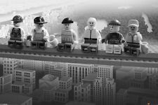 "Lego On A Girder LAMINATED POSTER ""Over Manhattan"" BRAND NEW Licensed Art"
