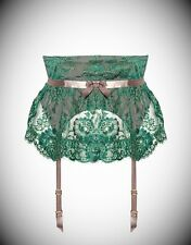 AGENT PROVOCATEUR SOIREE GARDINIA GREEN WASPIE SIZE 4/LARGE/12-14 BNWT RRP £495