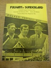07/02/1976 Fulham v Sunderland  . Item appears to be in good condition unless pr