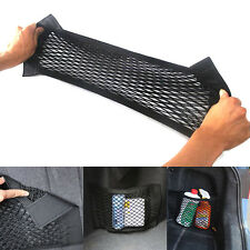 Car Rear Trunk Back Seat Elastic String Net Mesh Velcro Storage Bag Pocket Cage