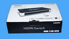 Maplin Hdmi 3 Puertos / modo Auto Inteligente Interruptor Con Control Remoto-hsw0301bn-RRP £ 29.99
