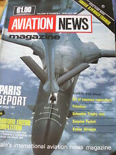 INTERNATIONAL AVIATION NEWS MAG V16#4 SCALE PLAN FOKKER S.14 MACH TRAINER KELNER