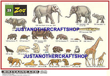 Britains model zoo animaux 1968 format A3 poster display shop signe publicité notice