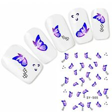 Tattoo Nail Art Aufkleber Schmetterling Glitzer Nagel Sticker Butterfly Neu!