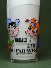 Donald et Dingo au Far-West  - Disney - Verre à Moutarde Décoré Illustré